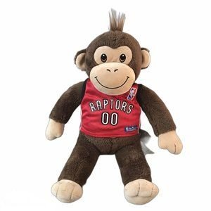 Build A Bear Monkey Plush w Raptors Jersey